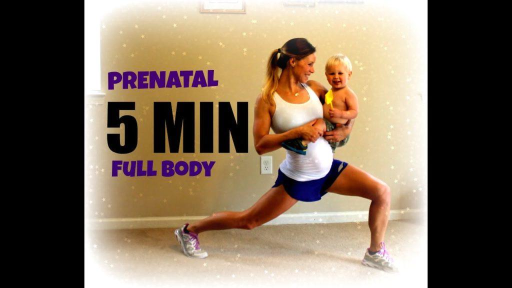 5 Min Full Body Lean + Tone Pregnancy | 1St &Amp; 2Nd Trimester - Prenatal Workouts Videos - 2021