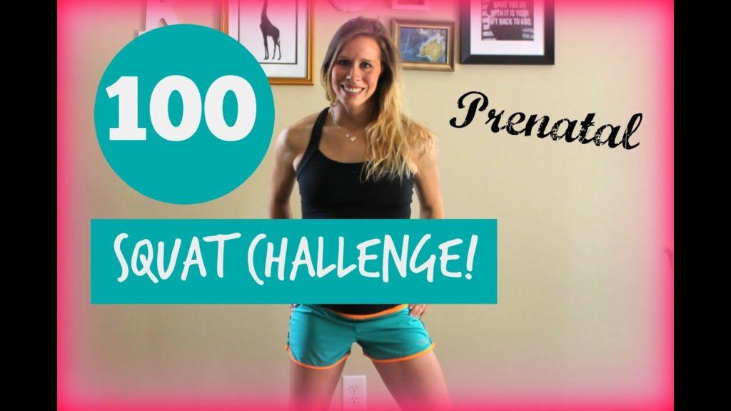 Prenatal 100 Squat Challenge - Prenatal Workouts Videos - 2021