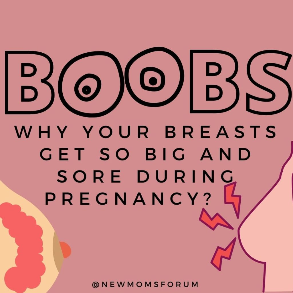 Why Your Breasts Get So Big And Sore During Pregnancy